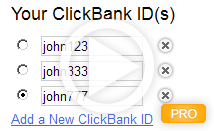 Your ClickBank IDs
